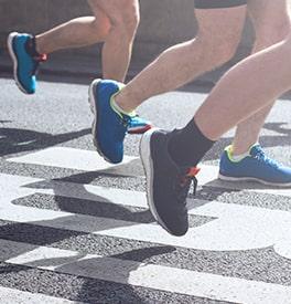 Courir avec les bonnes chaussures