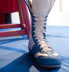 De bonnes chaussures pour boxer