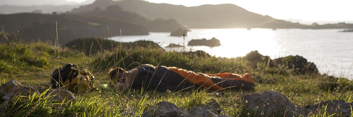 sac de couchage pour dormir à la belle étoile - rando