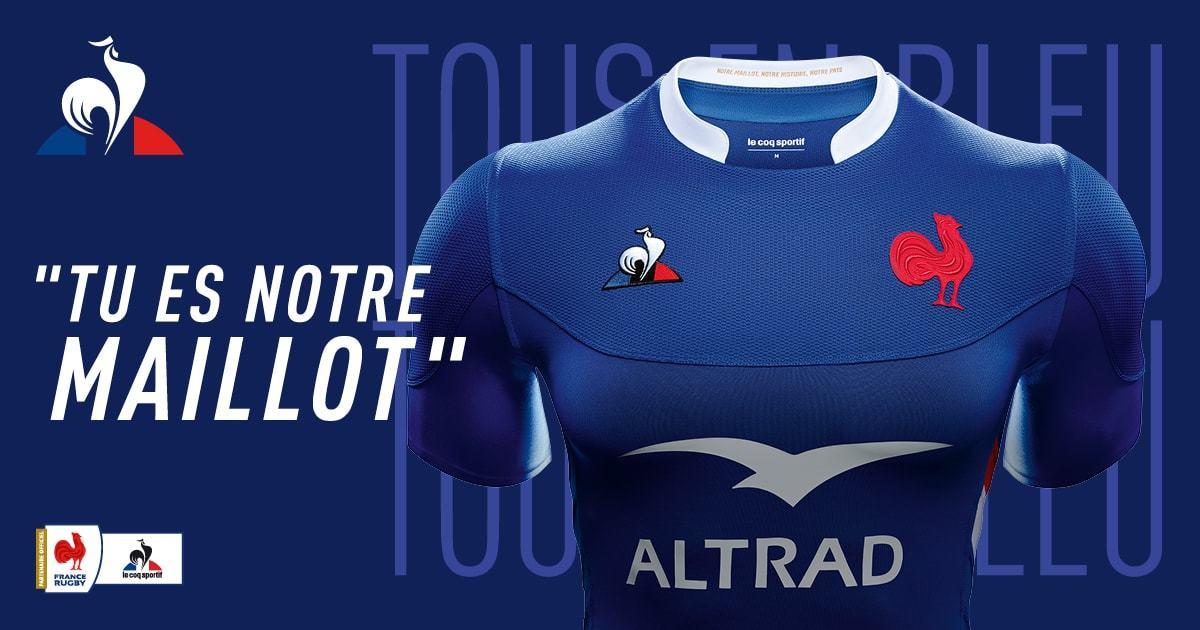 maillot officiel du Quinze de France par Le Coq Sportif