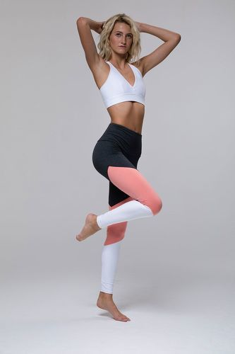 ONZIE-Legging High Rise Track - Peach Pink Combo-image-4
