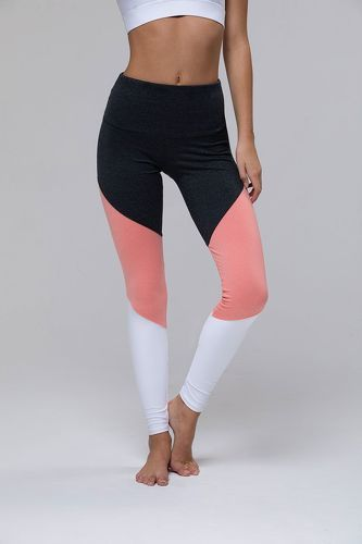 ONZIE-Legging High Rise Track - Peach Pink Combo-image-1