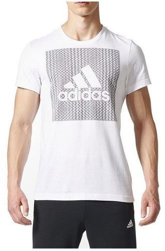 29c67c3d77a8a ADIDAS-Knitted Homme Tee-shirt Blanc-image-1 ...