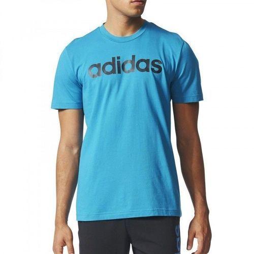 t shirt adidas bleu homme