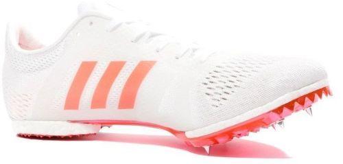 Chaussures Adizéro Middle Blanc Rouge Athlétisme Femme Homme