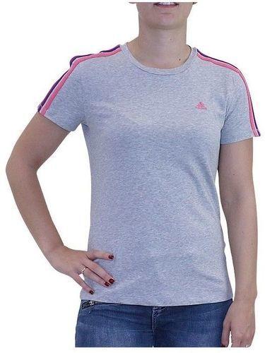 la moitié e787c c94d7 Tee shirt ESS 3S TEE Entrainement Gris Femme Adidas