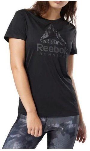 Run SS Femme Tee shirt Running Noir Reebok