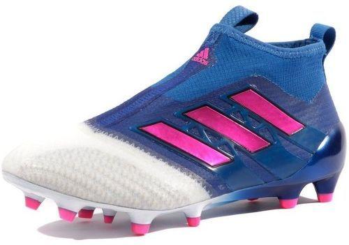 best sneakers 10435 79e44 ADIDAS-Ace 17+ Purecontrol FG Garçon Chaussures Football Bleu Blanc Adidas -image-