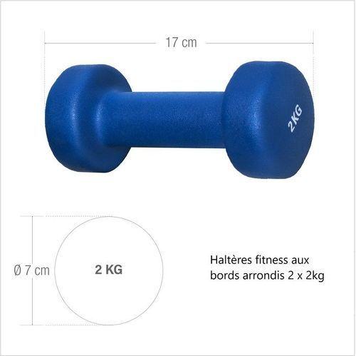 GORILLA SPORTS-1 KG (2x0,5) à 10kg (2x5,0) Haltères fitness en vinyle-image-2