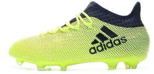 Adidas Performance X 17.4 Fg jaune, chaussures de football enfant