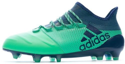 X 17.1 FG Leather Chaussures de foot vert homme Adidas