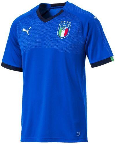 PUMA-Maillot Bleu Italie FIGC Homme Puma Replica Domicile 2018/2019-image-1