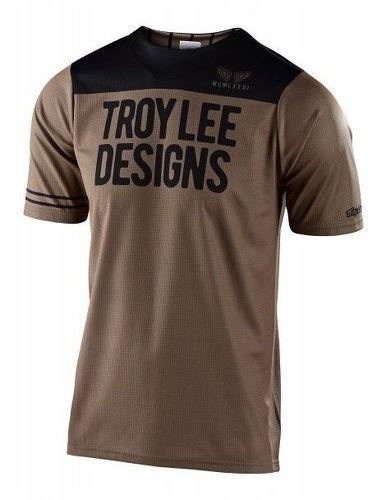 Troy lee designs-TROY LEE DESIGNS MAILLOT SKYLINE SS PINSTRIPE BLOCK WALNUT/BLACK-image-1