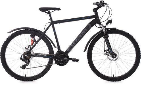 KS Cycling-VTT semi-rigide 26'' Calgary ATB 21 vitesses noir-gris KS Cycling TC 56 cm-image-1