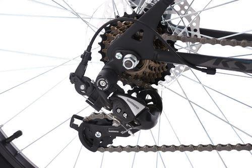 KS Cycling-VTT semi-rigide 26'' Calgary ATB 21 vitesses noir-gris KS Cycling TC 56 cm-image-3