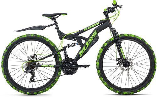 KS Cycling-VTT Tout Suspendu 26'' Bliss Pro noir-vert TC 46 cm KS Cycling-image-1