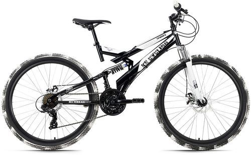KS Cycling-VTT tout suspendu 26'' Crusher noir-blanc TC 44 cm KS Cycling-image-1