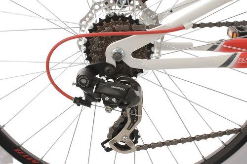KS Cycling-VTT tout suspendu 26'' Topeka blanc-rouge TC 44 cm KS Cycling-image-3