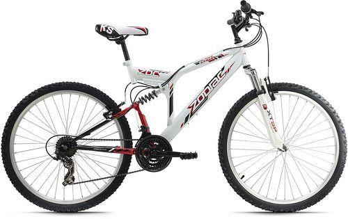 KS Cycling-VTT tout suspendu 26'' Zodiac blanc-rouge TC 48 cm KS Cycling-image-1