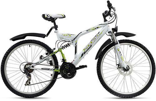 KS Cycling-VTT tout suspendu 26'' Zodiac blanc-vert TC 48 cm KS Cycling-image-1