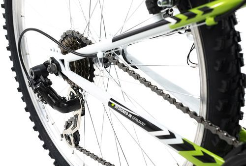 KS Cycling-VTT tout suspendu 26'' Zodiac blanc-vert TC 48 cm KS Cycling-image-3