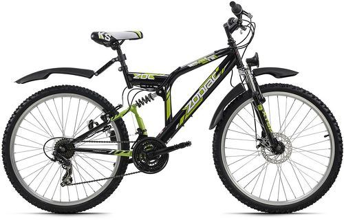 KS Cycling-VTT tout suspendu 26'' Zodiac noir-vert TC 48 cm KS Cycling-image-1