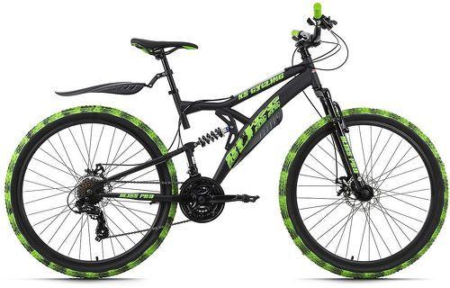 KS Cycling-VTT Tout Suspendu 27,5'' Bliss Pro noir-vert TC 46 cm KS Cycling-image-1