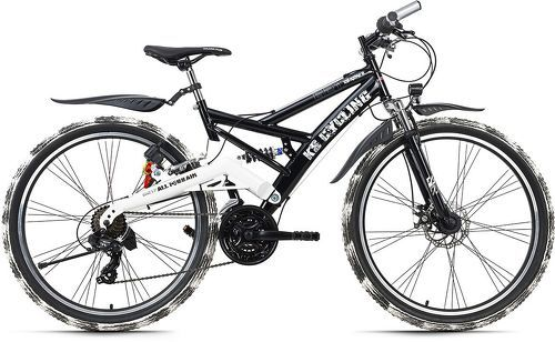 KS Cycling-VTT tout suspendu ATB 26'' Crusher noir-blanc TC 46 cm KS Cycling-image-1