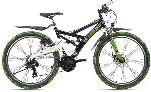 KS Cycling-VTT tout suspendu ATB 26'' Crusher noir-vert TC 46 cm KS Cycling-image-1