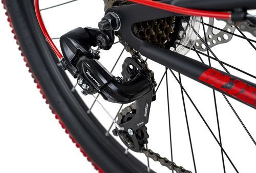 KS Cycling-VTT Tout Suspendu 26'' Bliss Pro noir-rouge TC 46 cm KS Cycling-image-3