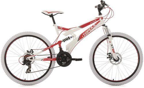 KS Cycling-VTT tout suspendu 26'' Topeka blanc-rouge TC 44 cm KS Cycling-image-1