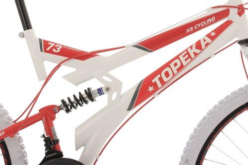 KS Cycling-VTT tout suspendu 26'' Topeka blanc-rouge TC 44 cm KS Cycling-image-4