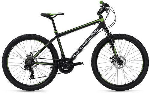 KS Cycling-VTT semi-rigide 26'' Xceed noir-vert TC 42 cm KS Cycling-image-1
