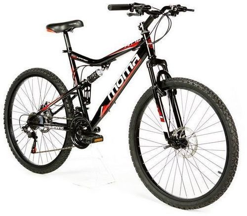 "MOMABIKES-Moma Bikes Vélo VTT, HIT26"", SHIMANO 21V, Freins a Disque, Suspension Avant-image-1"